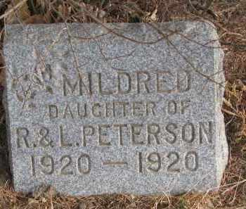 PETERSON, MILDRED - Clay County, South Dakota | MILDRED PETERSON - South Dakota Gravestone Photos