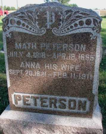 PETERSON, ANNA - Clay County, South Dakota | ANNA PETERSON - South Dakota Gravestone Photos