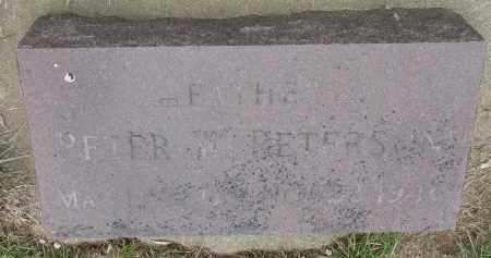 PETERSON, PETER W. - Clay County, South Dakota | PETER W. PETERSON - South Dakota Gravestone Photos