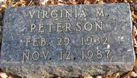 PETERSON, VIRGINIA M. - Clay County, South Dakota | VIRGINIA M. PETERSON - South Dakota Gravestone Photos