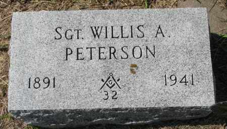 PETERSON, WILLIS A. - Clay County, South Dakota | WILLIS A. PETERSON - South Dakota Gravestone Photos