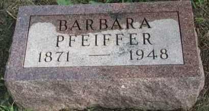 PFEIFFER, BARBARA - Clay County, South Dakota | BARBARA PFEIFFER - South Dakota Gravestone Photos