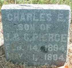 PIERCE, CHARLES E. - Clay County, South Dakota | CHARLES E. PIERCE - South Dakota Gravestone Photos