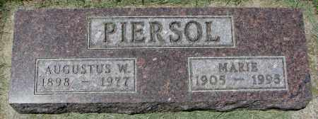 PIERSOL, AUGUSTUS W. - Clay County, South Dakota   AUGUSTUS W. PIERSOL - South Dakota Gravestone Photos