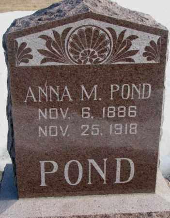 POND, ANNA M. - Clay County, South Dakota | ANNA M. POND - South Dakota Gravestone Photos