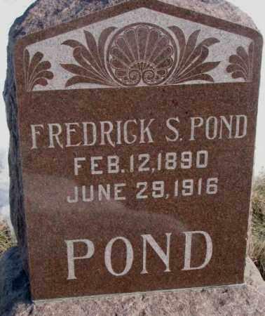 POND, FREDRICK S. - Clay County, South Dakota   FREDRICK S. POND - South Dakota Gravestone Photos