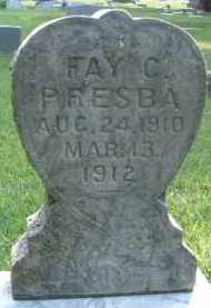 PRESBA, FAY C. - Clay County, South Dakota | FAY C. PRESBA - South Dakota Gravestone Photos
