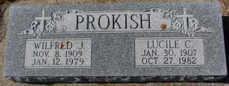PROKISH, WILFRED J. - Clay County, South Dakota   WILFRED J. PROKISH - South Dakota Gravestone Photos