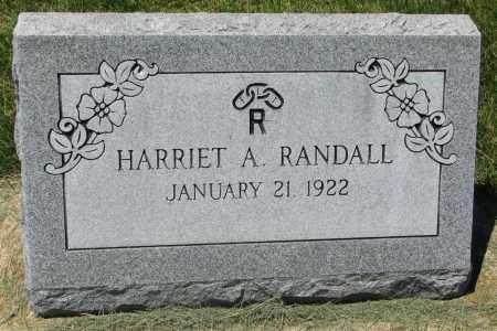 RANDALL, HARRIET A. - Clay County, South Dakota | HARRIET A. RANDALL - South Dakota Gravestone Photos