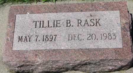 RASK, TILLIE B. - Clay County, South Dakota | TILLIE B. RASK - South Dakota Gravestone Photos