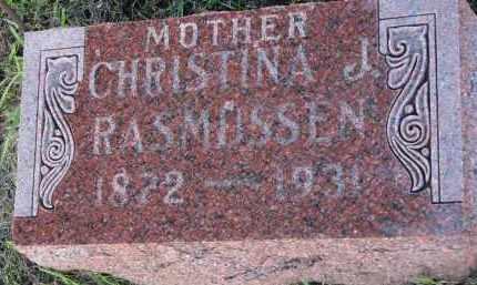 RASMUSSEN, CHRISTINA J. - Clay County, South Dakota   CHRISTINA J. RASMUSSEN - South Dakota Gravestone Photos