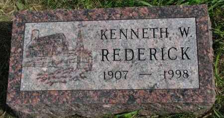 REDERICK, KENNETH W. - Clay County, South Dakota | KENNETH W. REDERICK - South Dakota Gravestone Photos