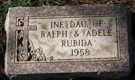 RUBIDA, INFANT DAUGHTER - Clay County, South Dakota | INFANT DAUGHTER RUBIDA - South Dakota Gravestone Photos