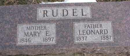 RUDEL, MARY E. - Clay County, South Dakota | MARY E. RUDEL - South Dakota Gravestone Photos