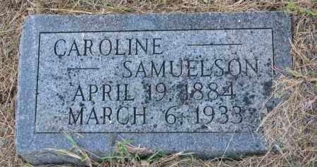 SAMUELSON, CAROLINE - Clay County, South Dakota | CAROLINE SAMUELSON - South Dakota Gravestone Photos