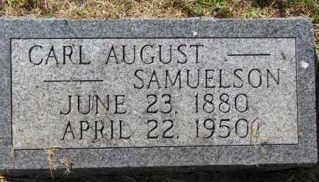 SAMUELSON, CARL AUGUST - Clay County, South Dakota | CARL AUGUST SAMUELSON - South Dakota Gravestone Photos