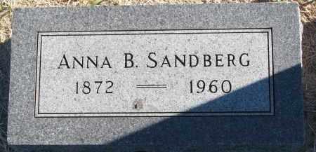 SANDBERG, ANNA B. - Clay County, South Dakota | ANNA B. SANDBERG - South Dakota Gravestone Photos