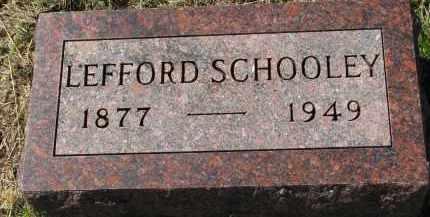 SCHOOLEY, LEFFORD - Clay County, South Dakota | LEFFORD SCHOOLEY - South Dakota Gravestone Photos