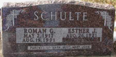 SCHULTE, ESTHER J. - Clay County, South Dakota | ESTHER J. SCHULTE - South Dakota Gravestone Photos