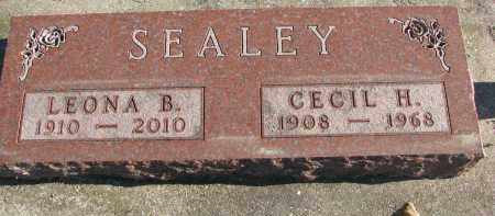 SEALEY, LEONA B. - Clay County, South Dakota   LEONA B. SEALEY - South Dakota Gravestone Photos