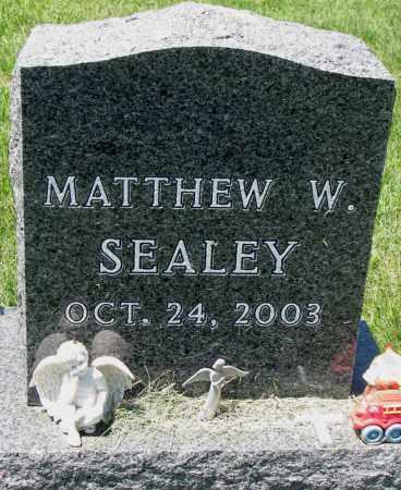 SEALEY, MATTHEW W. - Clay County, South Dakota | MATTHEW W. SEALEY - South Dakota Gravestone Photos