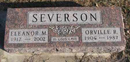 SEVERSON, ELEANOR M. - Clay County, South Dakota | ELEANOR M. SEVERSON - South Dakota Gravestone Photos