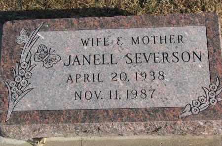 SEVERSON, JANELL - Clay County, South Dakota   JANELL SEVERSON - South Dakota Gravestone Photos
