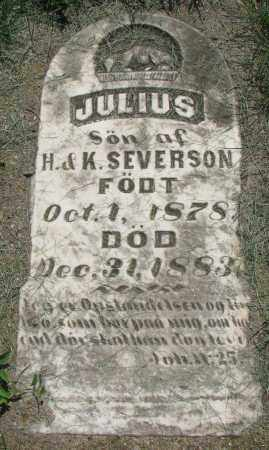 SEVERSON, JULIUS - Clay County, South Dakota | JULIUS SEVERSON - South Dakota Gravestone Photos
