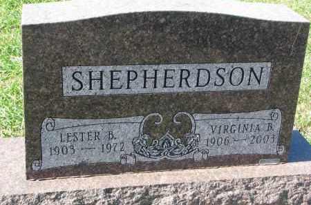 SHEPHERDSON, VIRGINIA B. - Clay County, South Dakota   VIRGINIA B. SHEPHERDSON - South Dakota Gravestone Photos