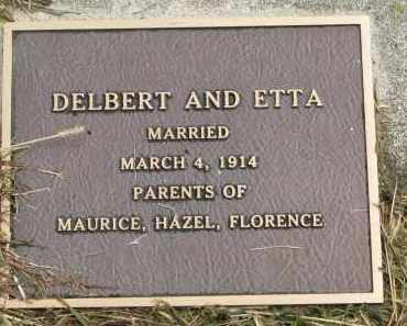 SHERK, ETTA (MARRIED) - Clay County, South Dakota   ETTA (MARRIED) SHERK - South Dakota Gravestone Photos