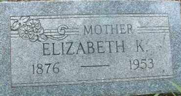 SHERK, ELIZABETH K. - Clay County, South Dakota | ELIZABETH K. SHERK - South Dakota Gravestone Photos