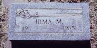 SHERK, IRMA M. - Clay County, South Dakota | IRMA M. SHERK - South Dakota Gravestone Photos
