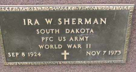 SHERMAN, IRA W. (WW II) - Clay County, South Dakota | IRA W. (WW II) SHERMAN - South Dakota Gravestone Photos