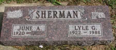 SHERMAN, JUNE A. - Clay County, South Dakota | JUNE A. SHERMAN - South Dakota Gravestone Photos