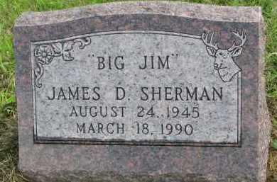 SHERMAN, JAMES D. - Clay County, South Dakota | JAMES D. SHERMAN - South Dakota Gravestone Photos