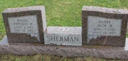 SHERMAN, PHYLLIS H. - Clay County, South Dakota   PHYLLIS H. SHERMAN - South Dakota Gravestone Photos
