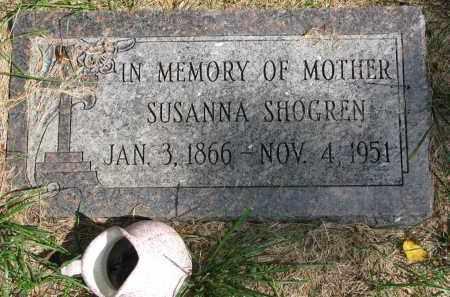 SHOGREN, SUSANNA - Clay County, South Dakota | SUSANNA SHOGREN - South Dakota Gravestone Photos
