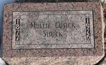 CUSICK SHUCK, MOLLIE - Clay County, South Dakota | MOLLIE CUSICK SHUCK - South Dakota Gravestone Photos