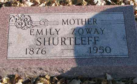 ZOWAY SHURTLEFF, EMILY - Clay County, South Dakota | EMILY ZOWAY SHURTLEFF - South Dakota Gravestone Photos