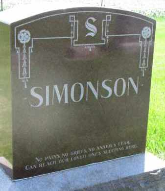 SIMONSON, FAMILY STONE - Clay County, South Dakota | FAMILY STONE SIMONSON - South Dakota Gravestone Photos
