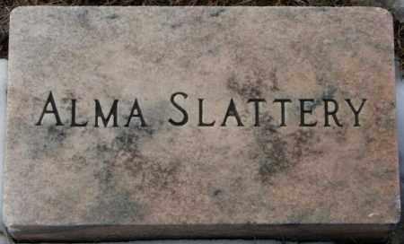SLATTERY, ALMA (FOOTSTONE) - Clay County, South Dakota | ALMA (FOOTSTONE) SLATTERY - South Dakota Gravestone Photos