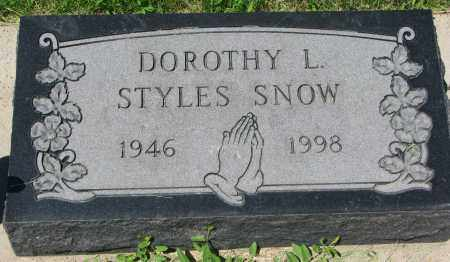 STYLES SNOW, DOROTHY L. - Clay County, South Dakota | DOROTHY L. STYLES SNOW - South Dakota Gravestone Photos