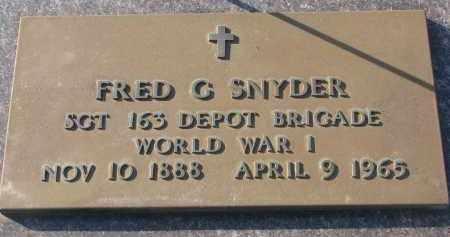 SNYDER, FRED G. - Clay County, South Dakota | FRED G. SNYDER - South Dakota Gravestone Photos