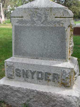 SNYDER, FAMILY STONE - Clay County, South Dakota   FAMILY STONE SNYDER - South Dakota Gravestone Photos