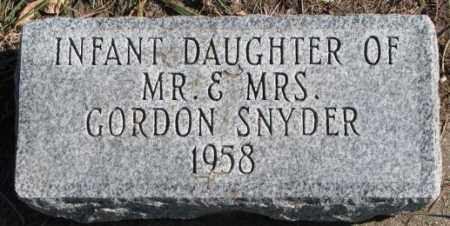 SNYDER, INFANT DAUGHTER - Clay County, South Dakota | INFANT DAUGHTER SNYDER - South Dakota Gravestone Photos