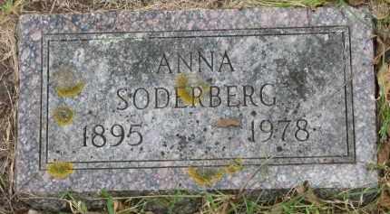 SODERBERG, ANNA - Clay County, South Dakota | ANNA SODERBERG - South Dakota Gravestone Photos