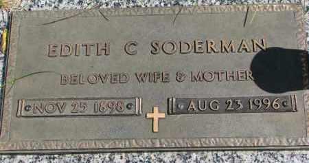 SODERMAN, EDITH C. - Clay County, South Dakota | EDITH C. SODERMAN - South Dakota Gravestone Photos