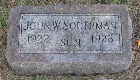 SODERMAN, JOHN W. - Clay County, South Dakota | JOHN W. SODERMAN - South Dakota Gravestone Photos