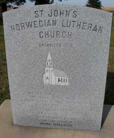 *ST. JOHN'S NORWEGIAN, CHURCH MARKER - Clay County, South Dakota | CHURCH MARKER *ST. JOHN'S NORWEGIAN - South Dakota Gravestone Photos