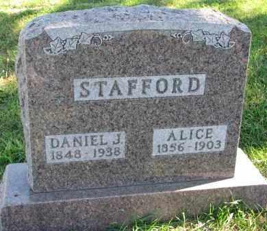 STAFFORD, ALICE - Clay County, South Dakota | ALICE STAFFORD - South Dakota Gravestone Photos